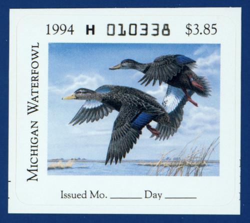 1994 Michigan Waterfowl Stamp (MI19)