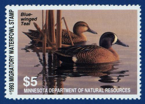 1993 Minnesota Migratory Waterfowl Stamp (MN17)