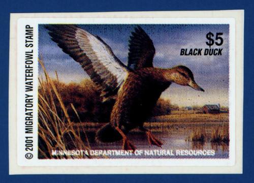 2001 Minnesota Migratory Waterfowl Stamp (MN25)