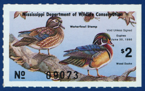 1989 Mississippi Waterfowl Stamp (MS14)