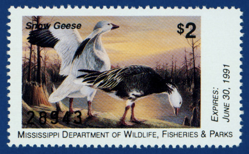 1990 Mississippi Waterfowl Stamp (MS15)