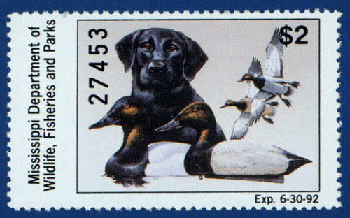 1991 Mississippi Waterfowl Stamp (MS16)