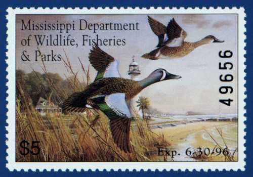 1995 Mississippi Waterfowl Stamp (MS20)