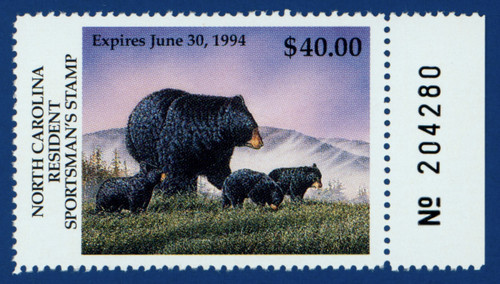 1993-94 North Carolina Resident Sportman's Stamp (NCS15)