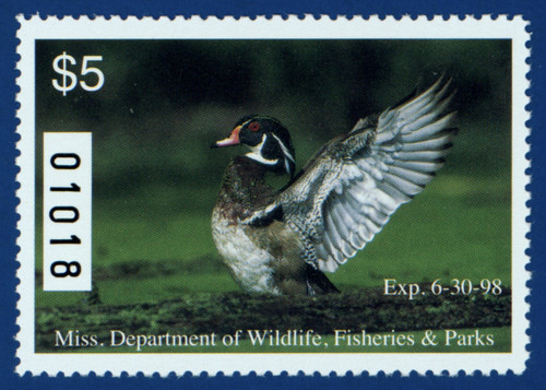 1997 Mississippi Waterfowl Stamp (MS22)
