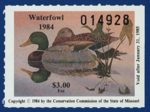 1984 Missouri Waterfowl Stamp (MO06)