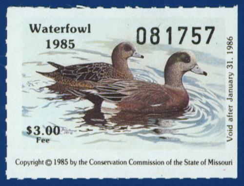 1985 Missouri Waterfowl Stamp (MO07)