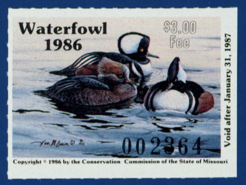 1986 Missouri Waterfowl Stamp (MO08)