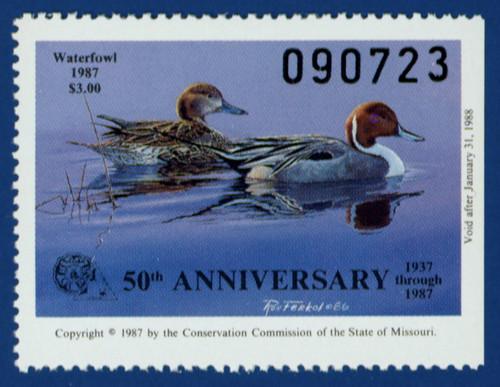 1987 Missouri Waterfowl Stamp (MO09)