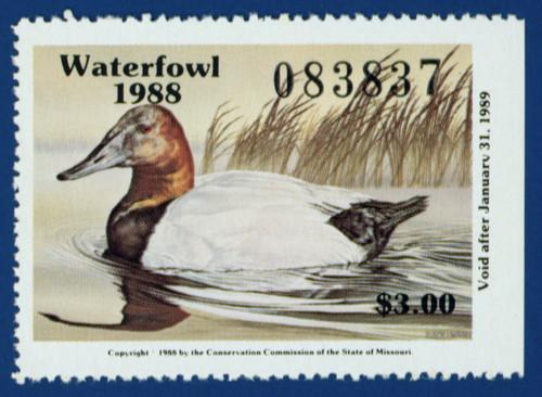 1988 Missouri Waterfowl Stamp (MO10)