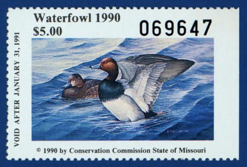 1990 Missouri Waterfowl Stamp (MO12)
