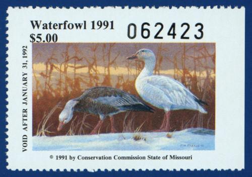 U.S. (MO13) 1991 Missouri Waterfowl Stamp