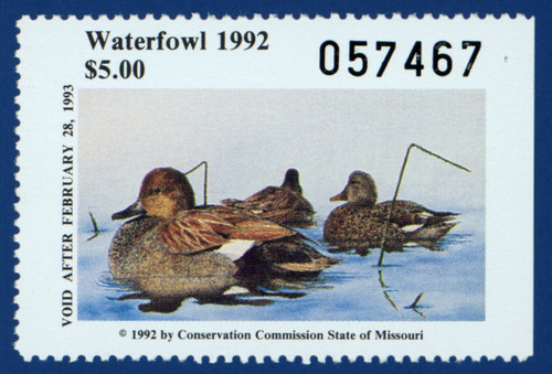 1992 Missouri Waterfowl Stamp (MO14)