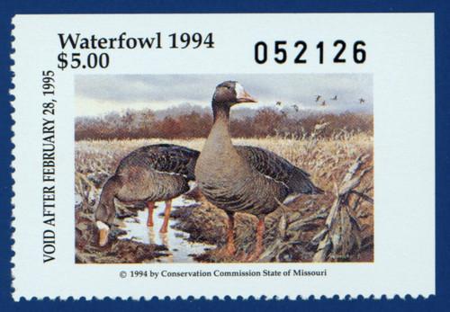 1994 Missouri Waterfowl Stamp (MO16)