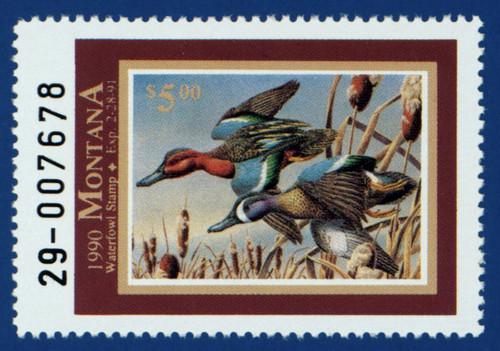 1990 Montana Waterfowl Stamp (MT05)