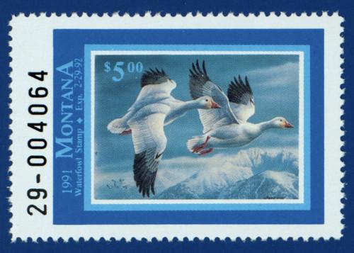 1991 Montana Waterfowl Stamp (MT06)