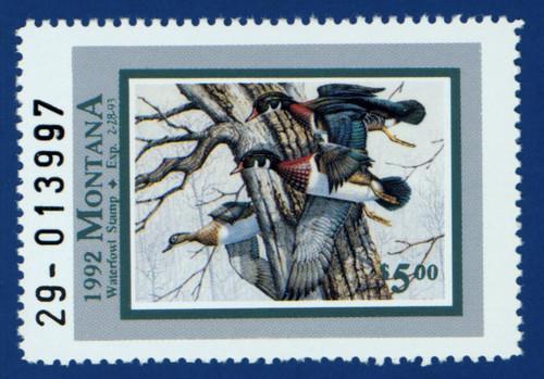 1992 Montana Waterfowl Stamp (MT07)