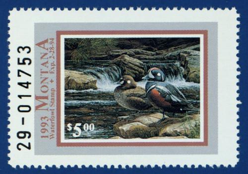 1993 Montana Waterfowl Stamp (MT08)