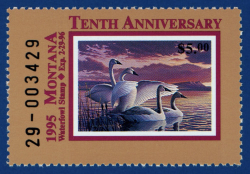 1995 Montana Waterfowl Stamp (MT10)