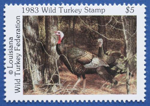 1983 Louisiana Wild Turkey Federation Stamp (LAWT03)