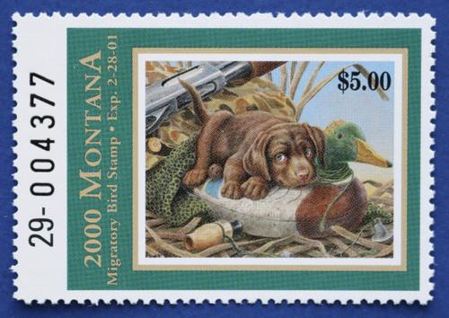 2000 Montana Migratory Bird Stamp (MT15)