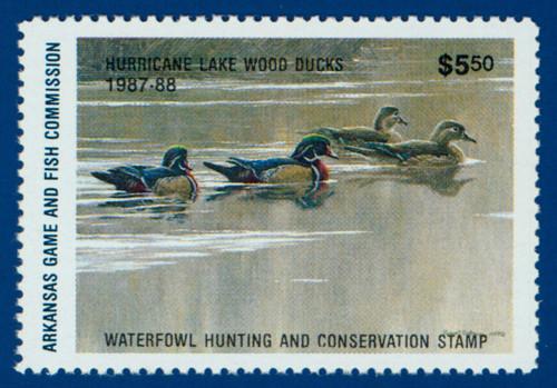 U.S. (AR07B) 1987 Arkansas Waterfowl Hunting & Conservation Stamp