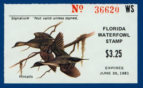 1980 Florida State Duck Stamp (FL02)