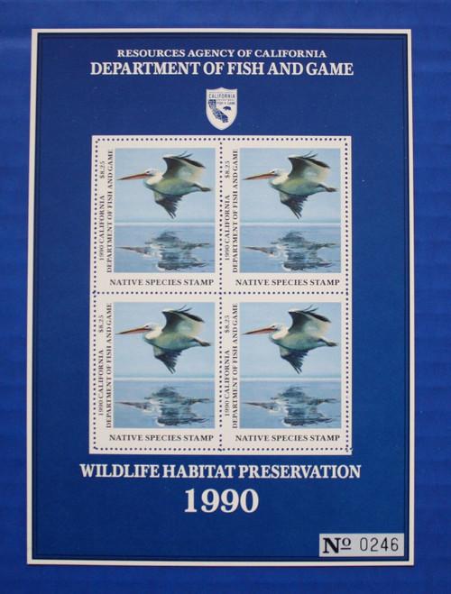 U.S. (CANS02) 1990 California Native Species Stamp Souvenir Sheet