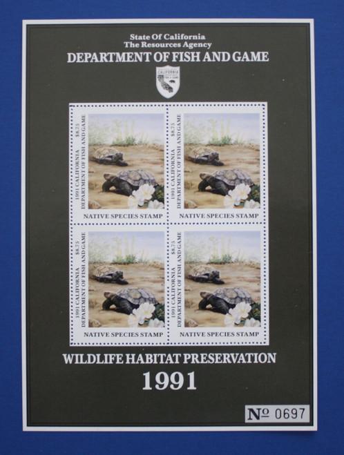 U.S. (CANS03) 1991 California Native Species Stamp Souvenir Sheet
