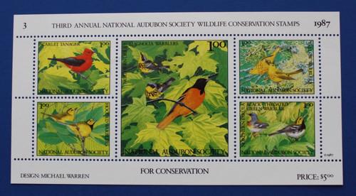 U.S. (ASWC03) 1987 National Audubon Society Wildlife Conservation Stamp Sheet