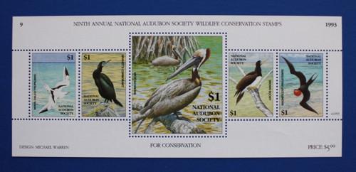 U.S. (ASWC09) 1993 National Audubon Society Wildlife Conservation Stamp Sheet