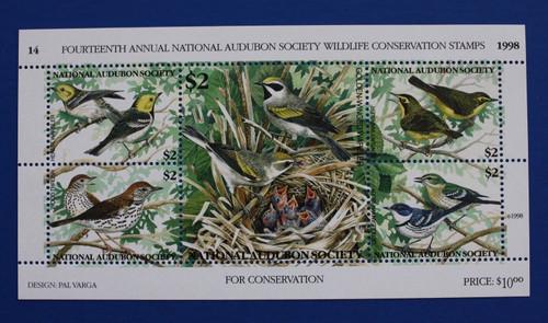 U.S. (ASWC14) 1998 National Audubon Society Wildlife Conservation Stamp Sheet