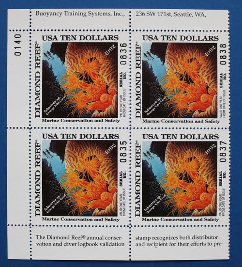 U.S. (DRBT01) 1992 Diamond Reef Marine Conservation & Safety Stamp (PB4)