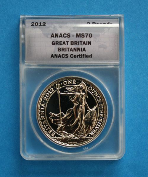 GREAT BRITAIN - 2012 Silver Britannia (ANACS MS70)