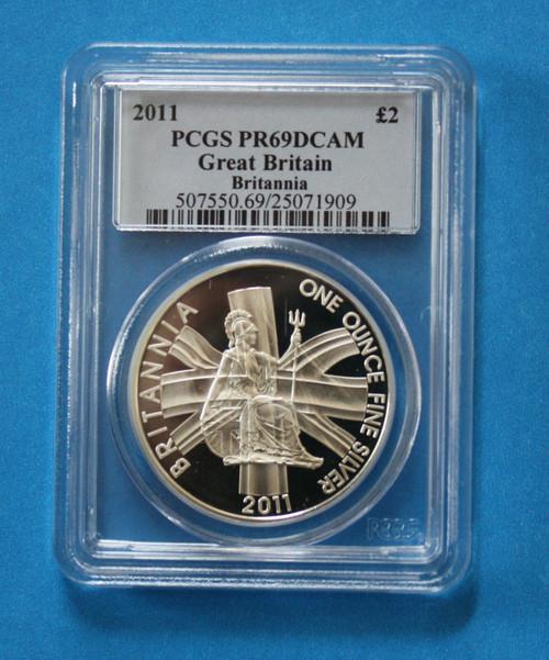 GREAT BRITAIN - 2011 Silver Britannia (PCGS PR69DCAM) **low population**