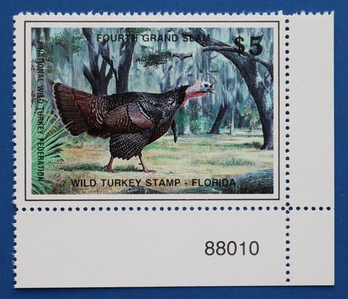 U.S. (WTGS04) 1988 National Wild Turkey Federation Grand Slam Series Stamp (PNS)