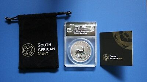 South Africa - 2017 1 oz Silver Krugerrand Coin (ANACS SP70 with COA)