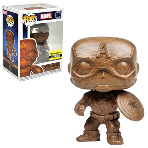 Funko Pop! Marvel: Captain America - Wood Deco (#584) Entertainment Earth