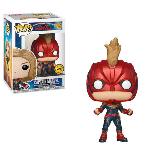 Funko Pop! Marvel: Captain Marvel - Captain Marvel (#425) Limited CHASE Edition