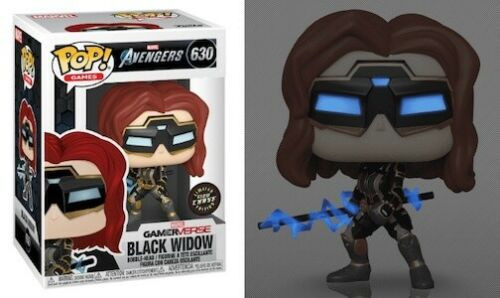 Funko Pop! Games: Marvel's Avengers Game - Black Widow (#630) Glow CHASE
