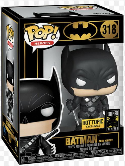 Funko POP! Heroes: Batman 80th - Batman Grim Knight (#318) Hot Topic Exclusive