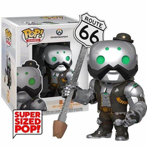 "Funko Pop! Games - Overwatch - B.O.B. (#558) 6"" Super-Sized Pop"