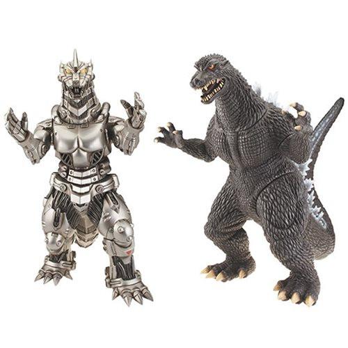 """BANDAI - Godzilla / Mechagodzilla Large Vinyl 12"""" Figure set"""