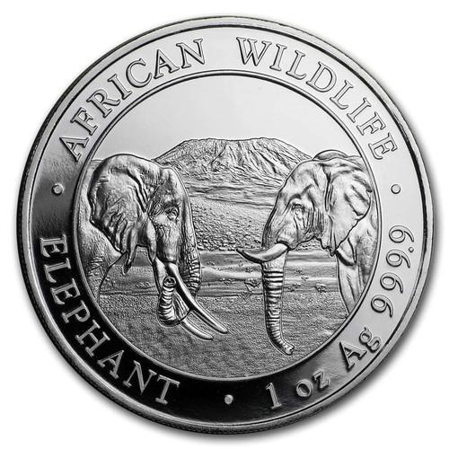 2020 Somalia Silver Elephant 1oz Coin BU (in air-tite capsule)