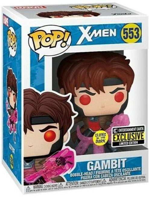 Funko Pop! Marvel: X-Men - Gambit (#553) [GITD] Entertainment Earth Exclusive