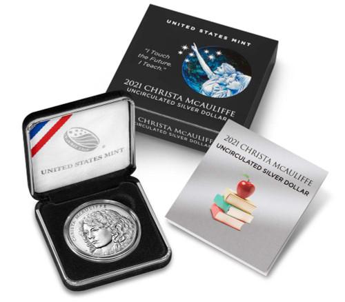 U.S. Mint - 2021 Christa McAuliffe Uncirculated Silver Dollar (21CJ)