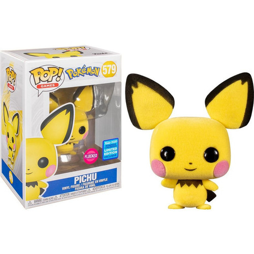 Funko Pop! Games: Pokemon - Pichu (#579) [Flocked] Wondercon 2020