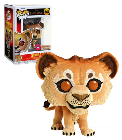 Funko Pop! Disney: The Lion King - Simba (#547) [Flocked] Box Lunch Exclusive