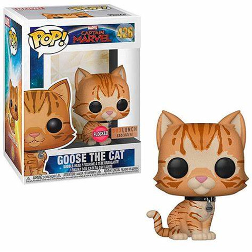 Funko Pop! Marvel: Captain Marvel - Goose the Cat (#426) [Flocked] Box Lunch Exclusive
