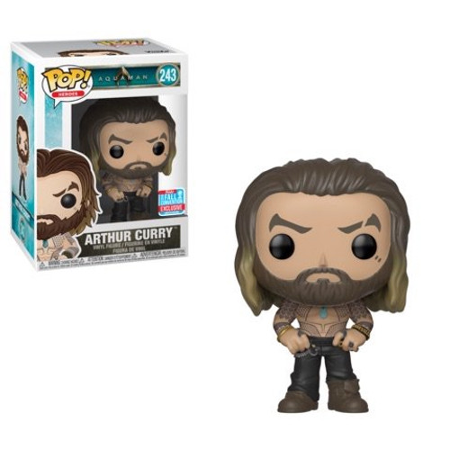 Funko Pop! Heroes: Aquaman - Arthur Curry [Shirtless] (#243) 2018 Fall Convention Exclusive